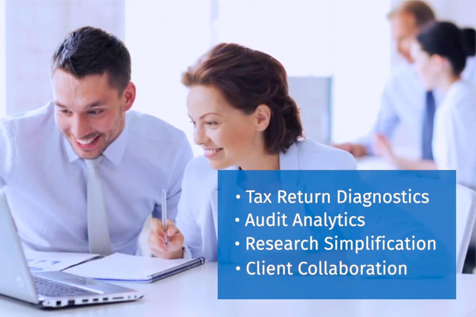 happy accountants working
