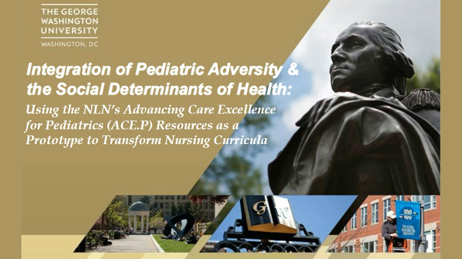 Screenshot of Integration of pediatric adversity and the social determinants of health video