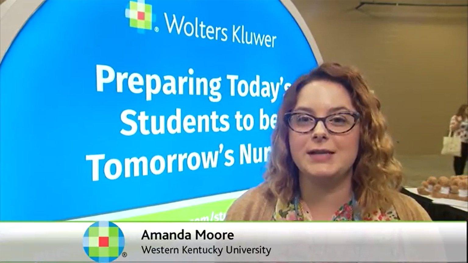 Screenshot of Lippincott PassPoint testimonial video of Amanda Moore