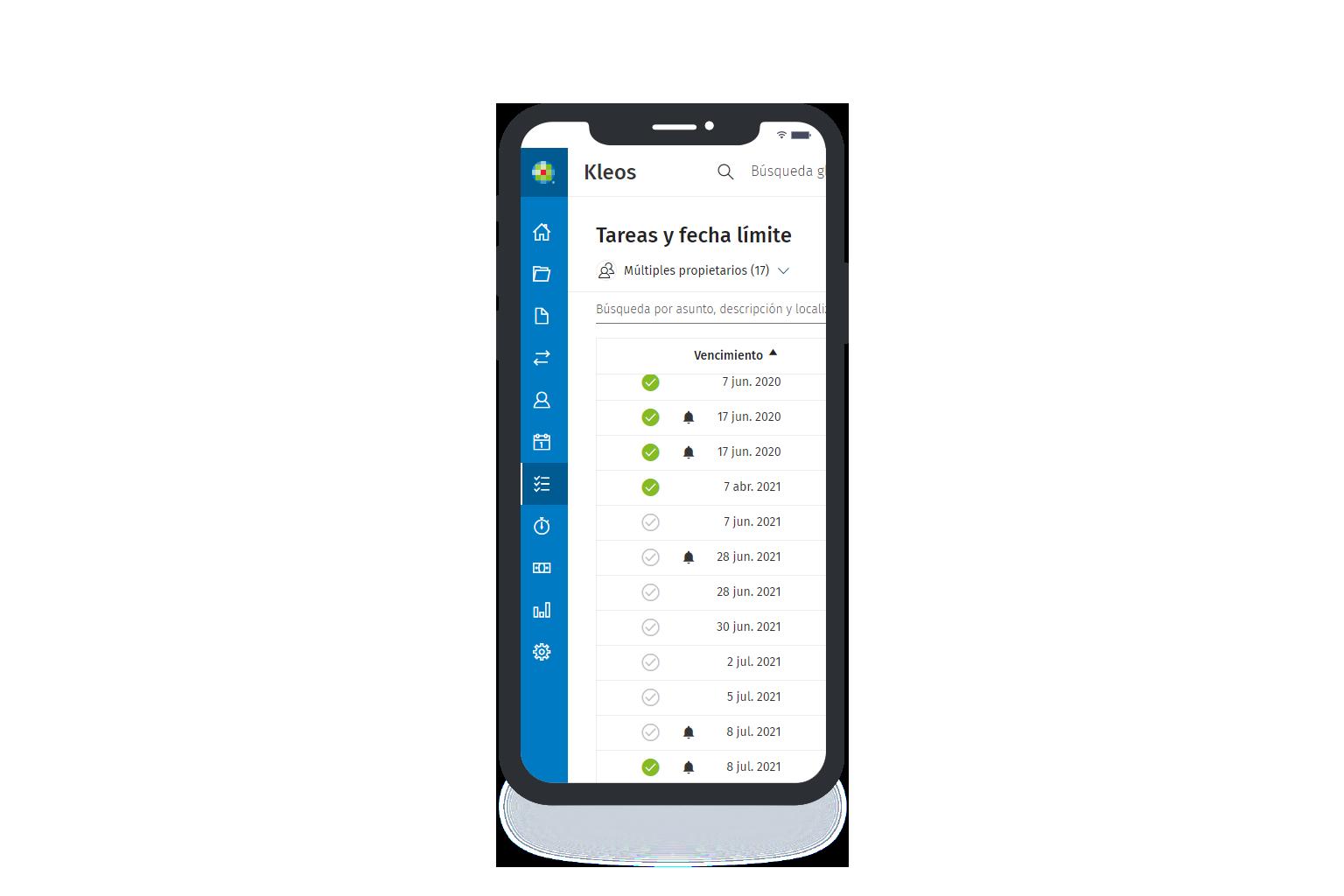 Kleos Mobility | Software para abogados en la nube con app