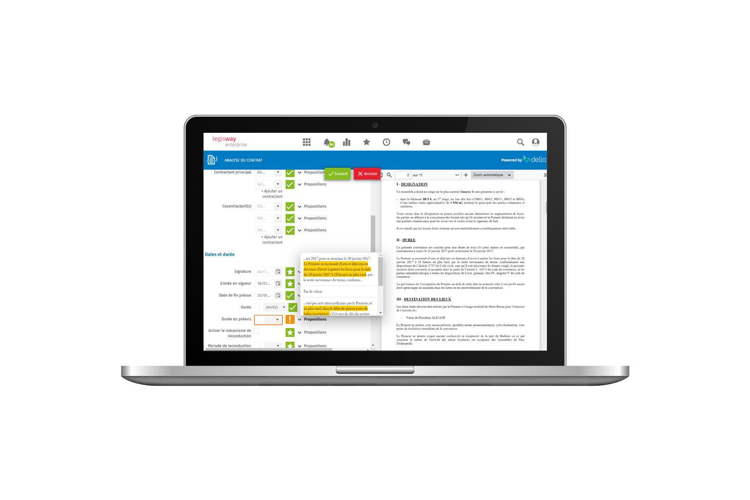 Legisway-Enterprise-IA | Logiciel de gestion de contrat