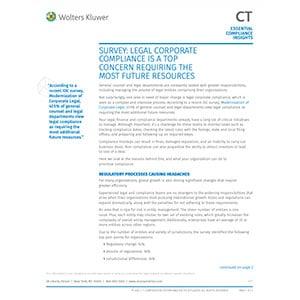Survey legal corporate compliance