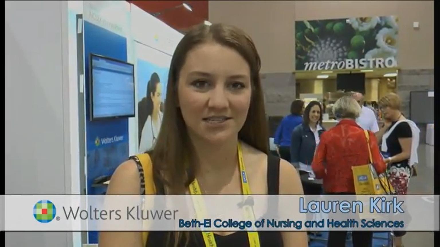 Screenshot of Lippincott PassPoint testimonial video of Lauren Kirk