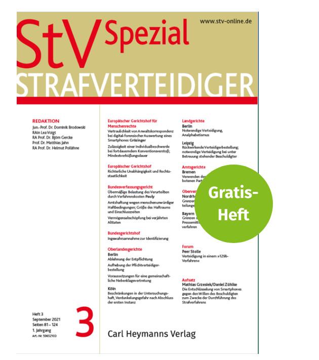 StV Spezial Strafverteidiger