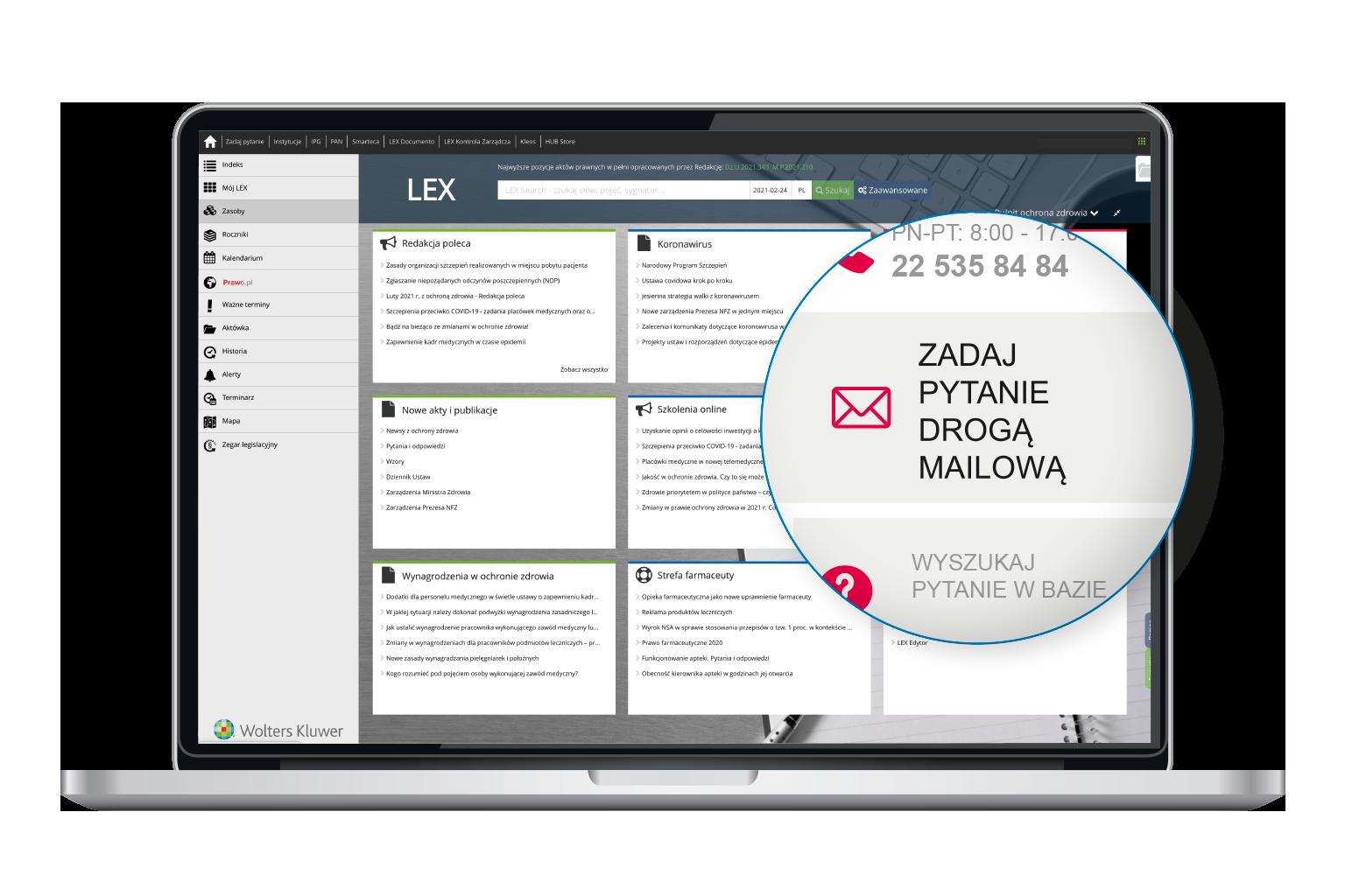 Zadaj pytanie drogą mailową w LEX Medca