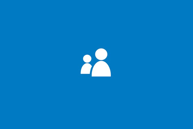 two people icon on blue background