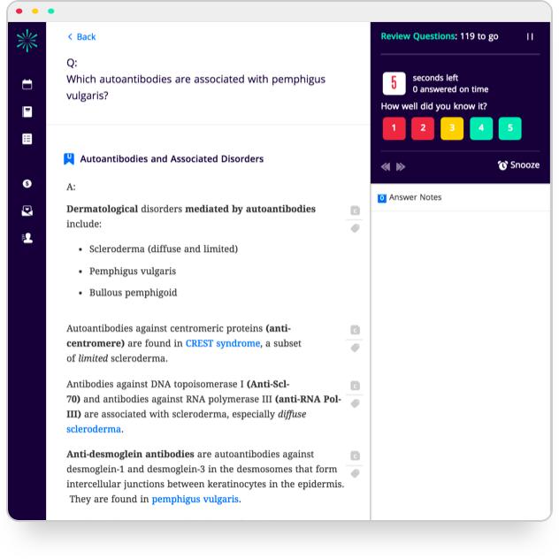 Screenshot of Firecracker study tasks