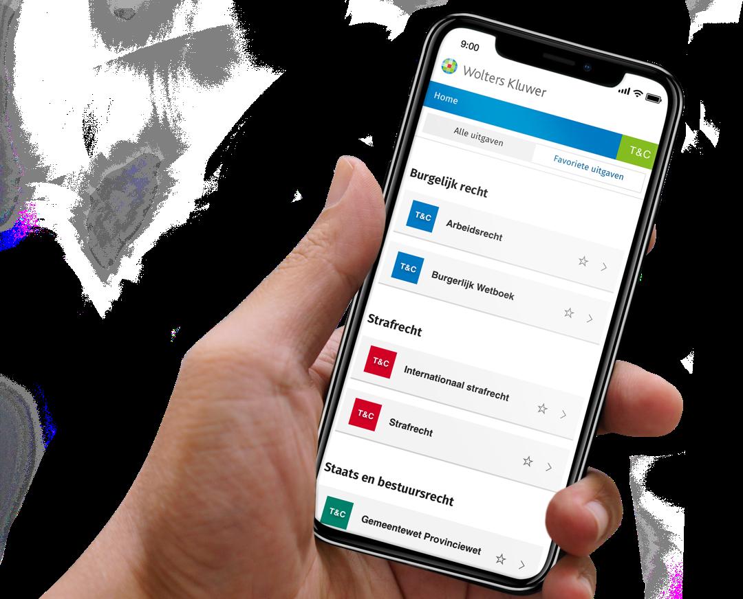 Hand laat Tekst en Commentaar Webapp op mobiel zien
