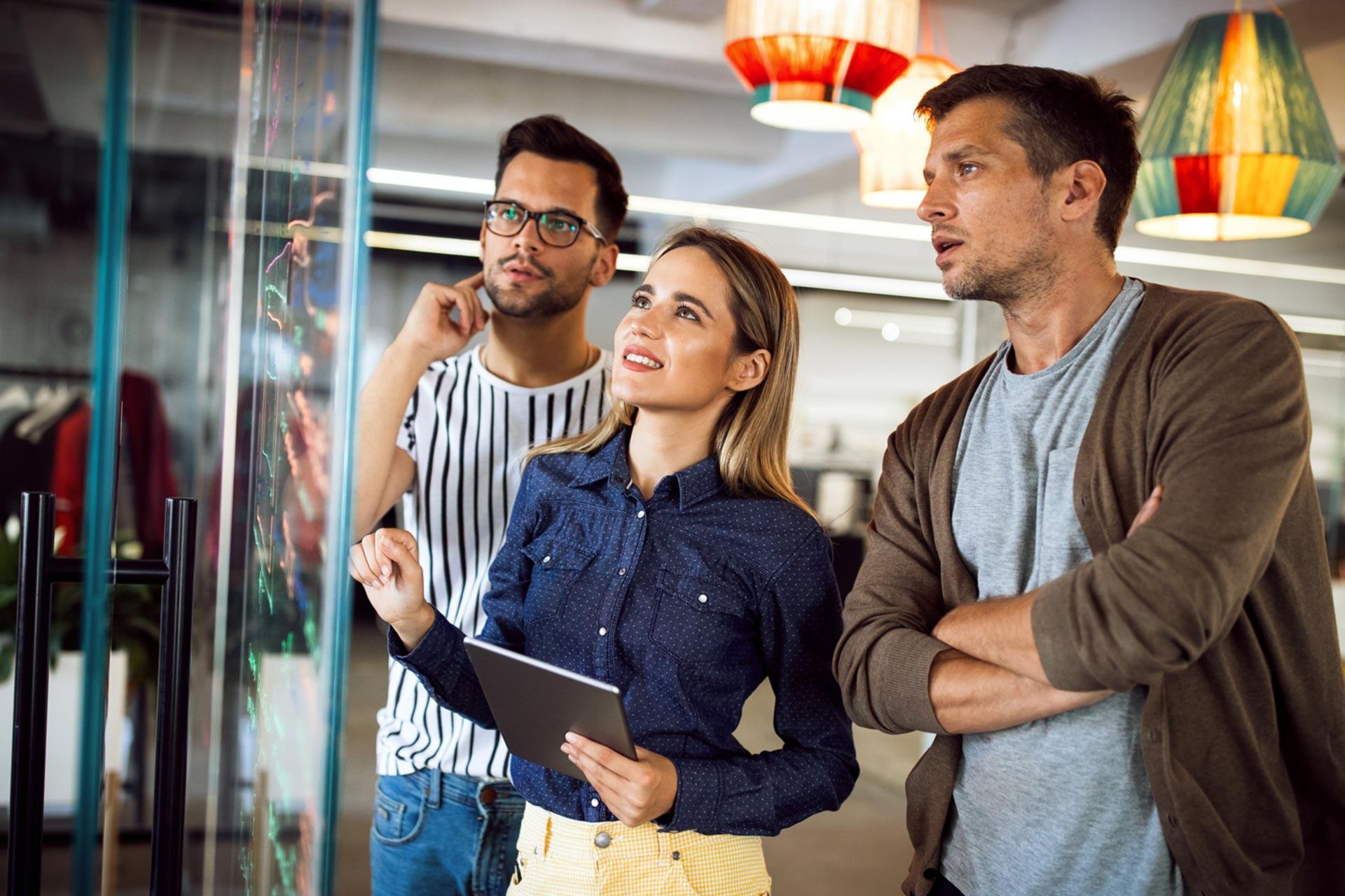 Nonprofit employees brainstorming