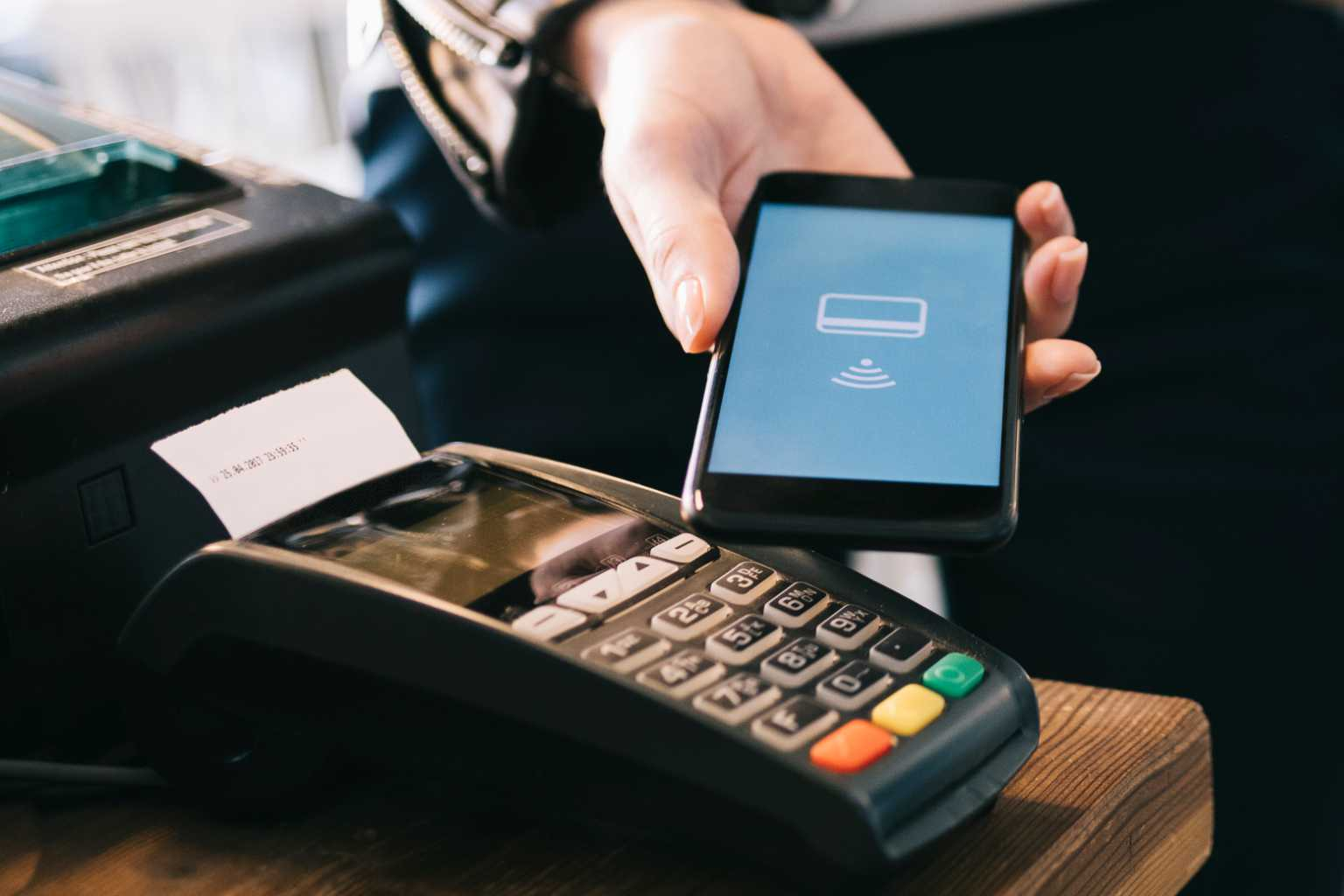 Smartphone creditcard transaction