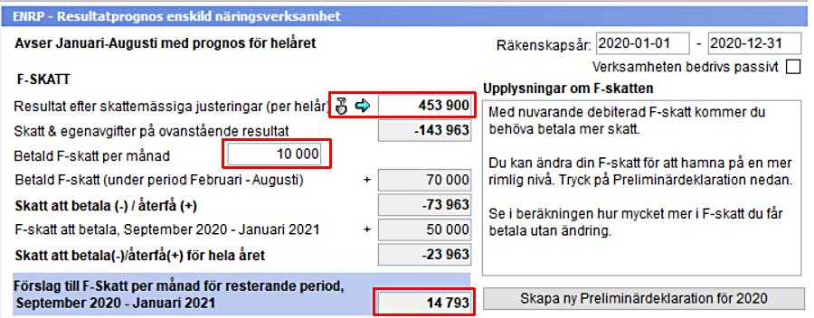 f-skatt i Skatt från Wolters Kluwer