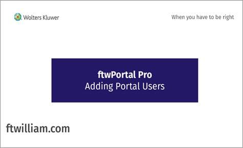 ftwPortal Pro - Adding Portal Users