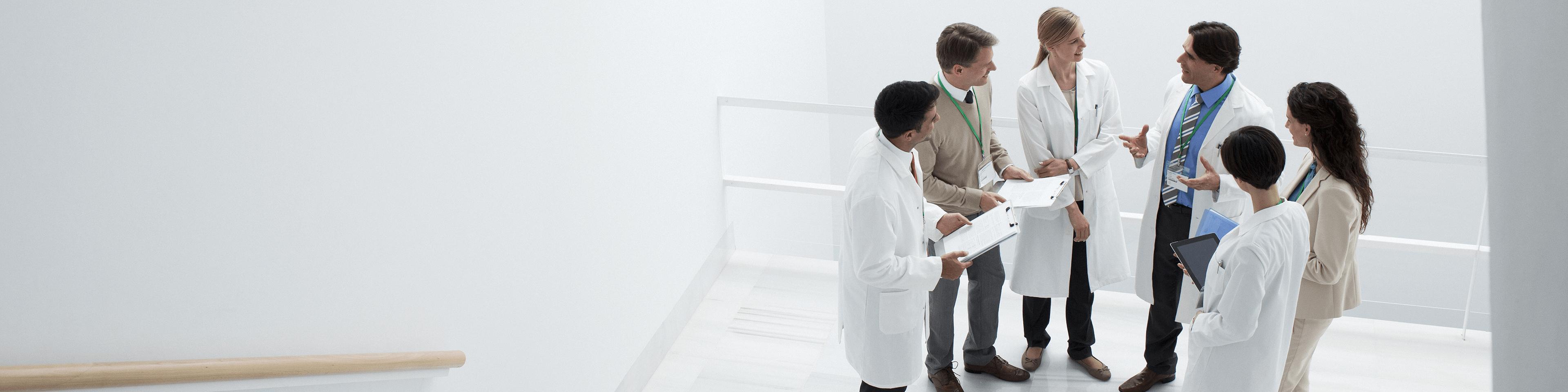 Clinicians-In-Hallway