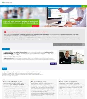 Web del Reglamento Europeo de Protección de Datos (RGPD)