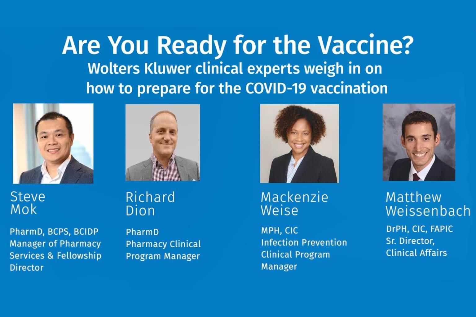 Discussing COVID-19 vaccine