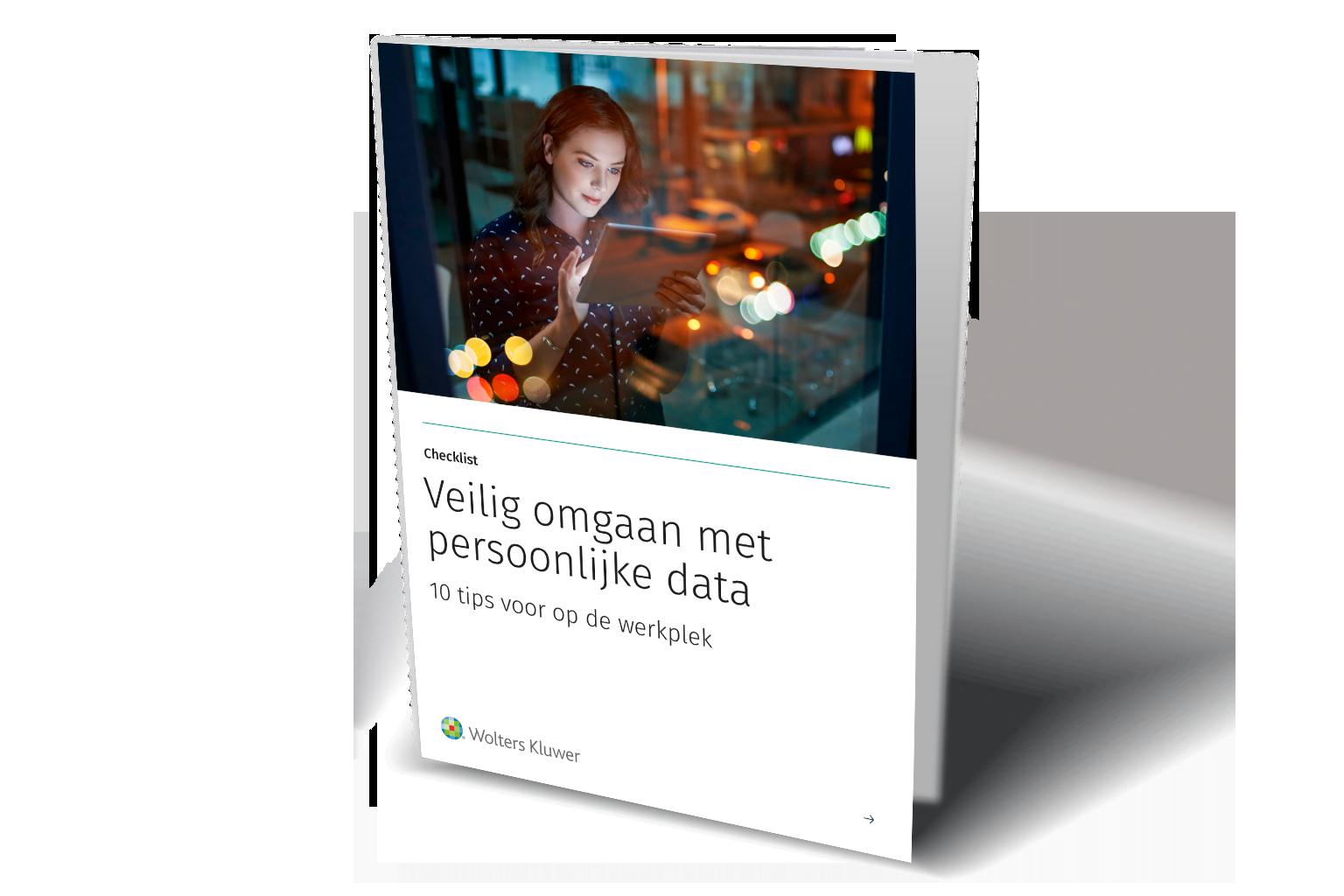 Cover whitepaper Veilig omgaan met persoonlijke data