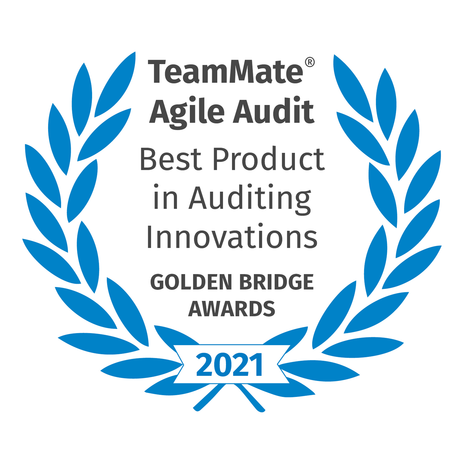 TeamMate Agile Audit - Best Product in Auditing Innovations - Golden Bridge Awards - 2021
