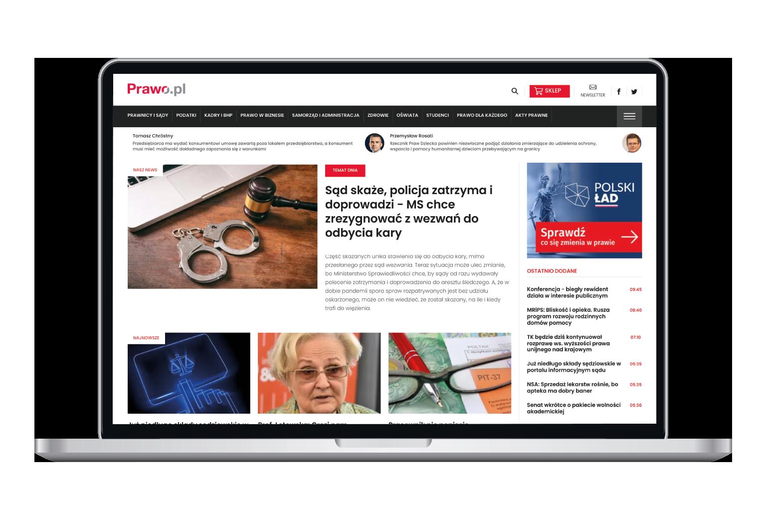 Serwis informacyjny prawo.pl w programie LEX Biznes