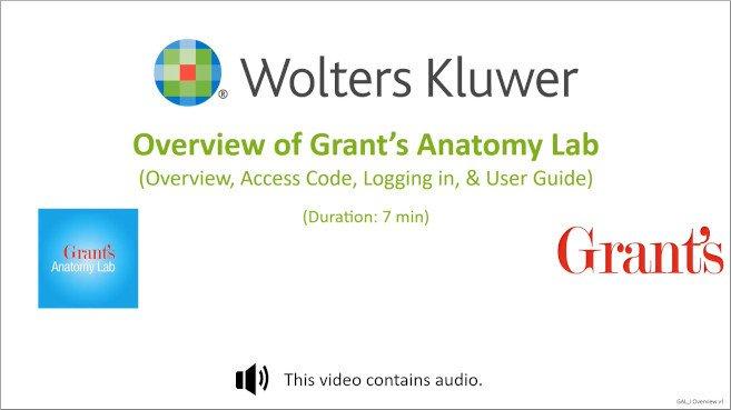 Grant's Anatomy Lab: Overview