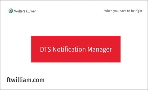 DTS Notification Manager