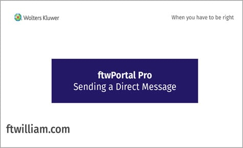 ftwPortal Pro - Sending a Direct Message