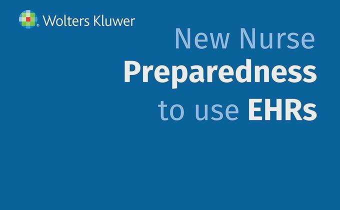 Infographic header: New nurse preparedness to use EHRs