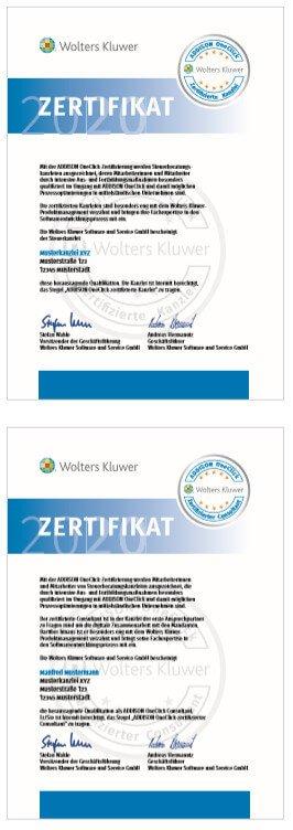 AOC Zertifikate