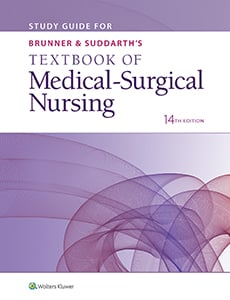 Study Guide for Brunner & Suddarth's Textbook of Medical-Surgical Nursing book cover