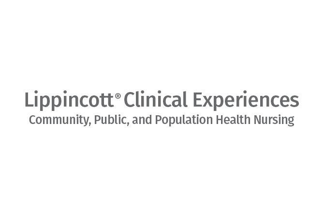 Lippincott Clinical Experiences: Community, Public, and Population Health Nursing logo