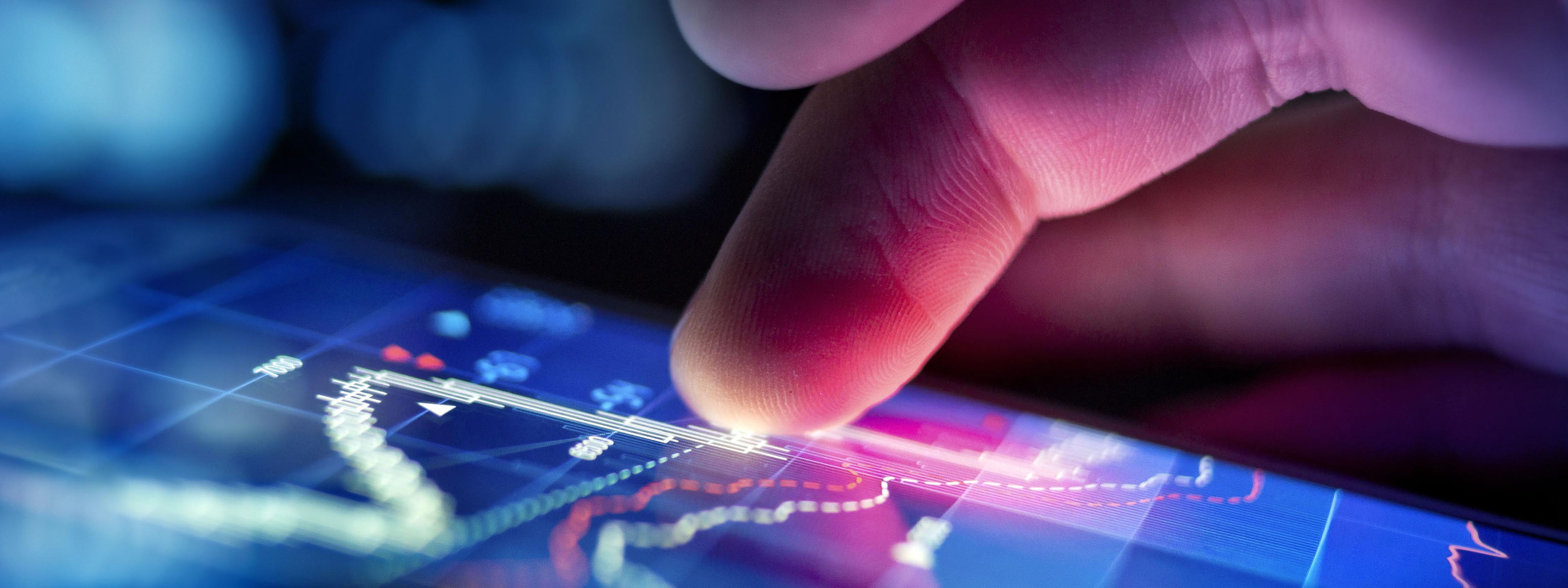 technology sector finger touch graphics