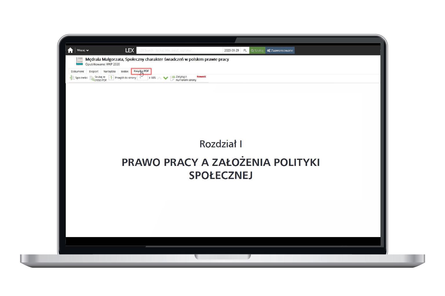 Książka w PDF w LEX Context