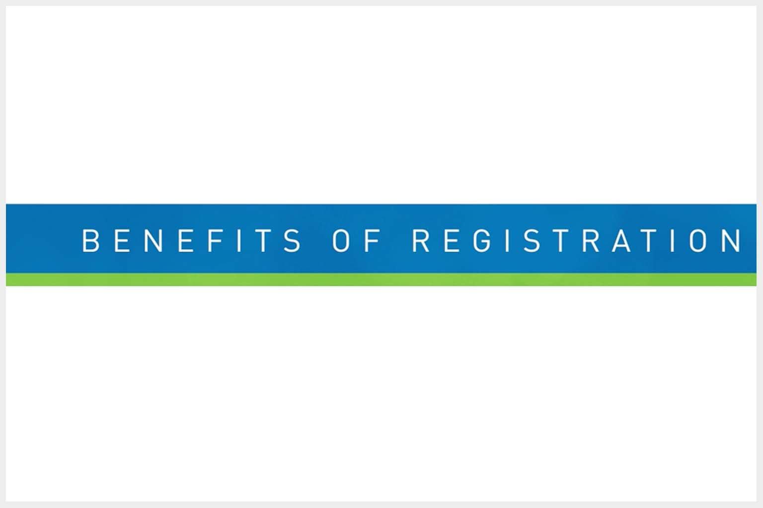 video screen - Benefits of Registration