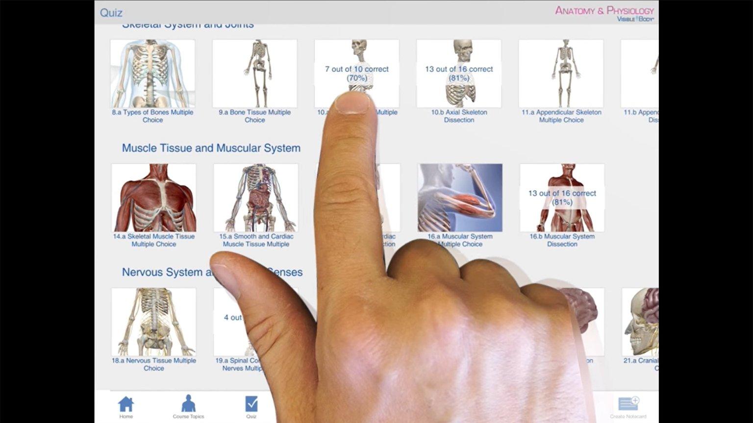 Screenshot of Anatomy & Physiology 2015 tutorial for iPad video