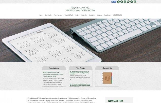 CCH Site Builder Screenshot