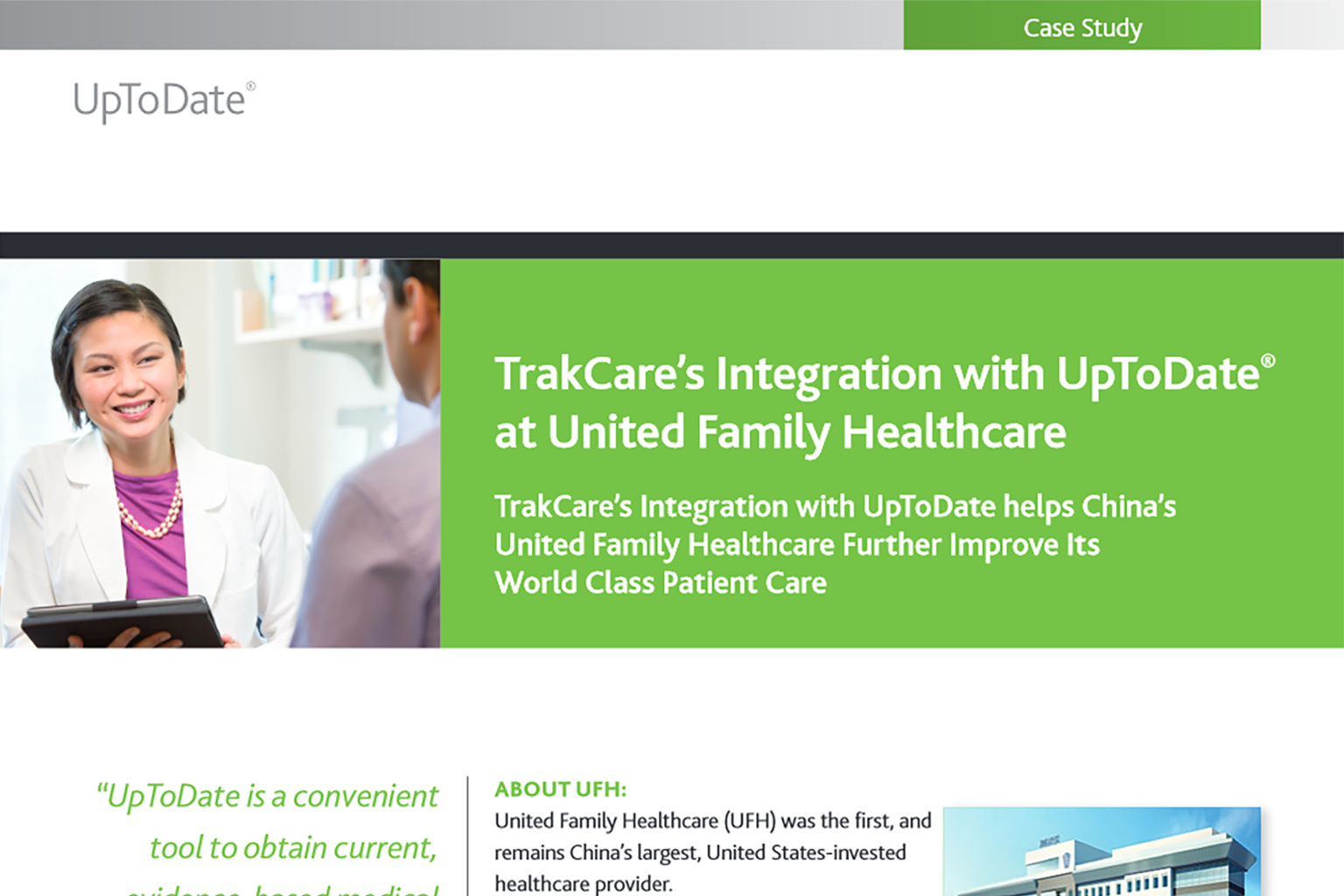 UpToDate Success Story: United Family Healthcare