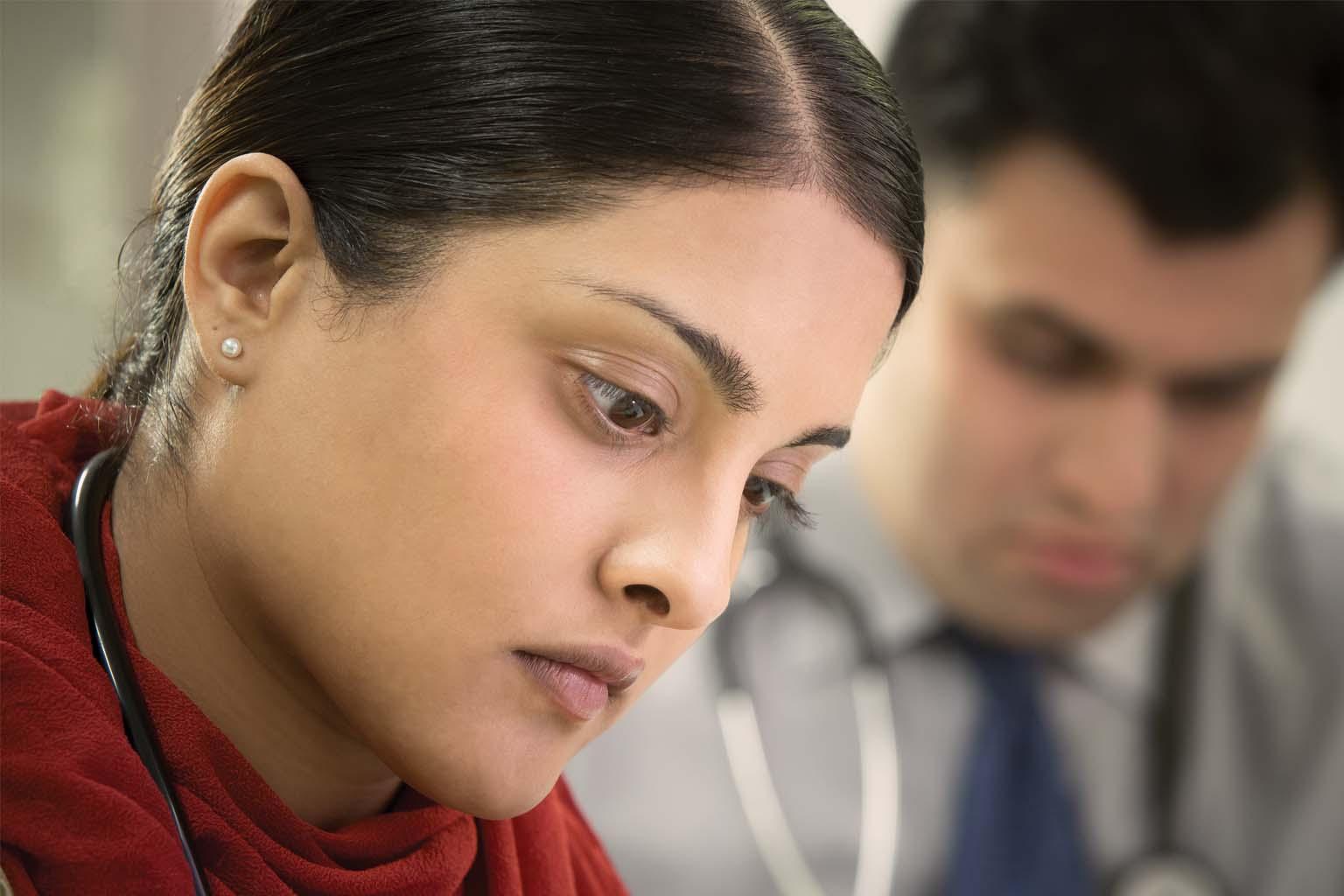 close up of female clinician
