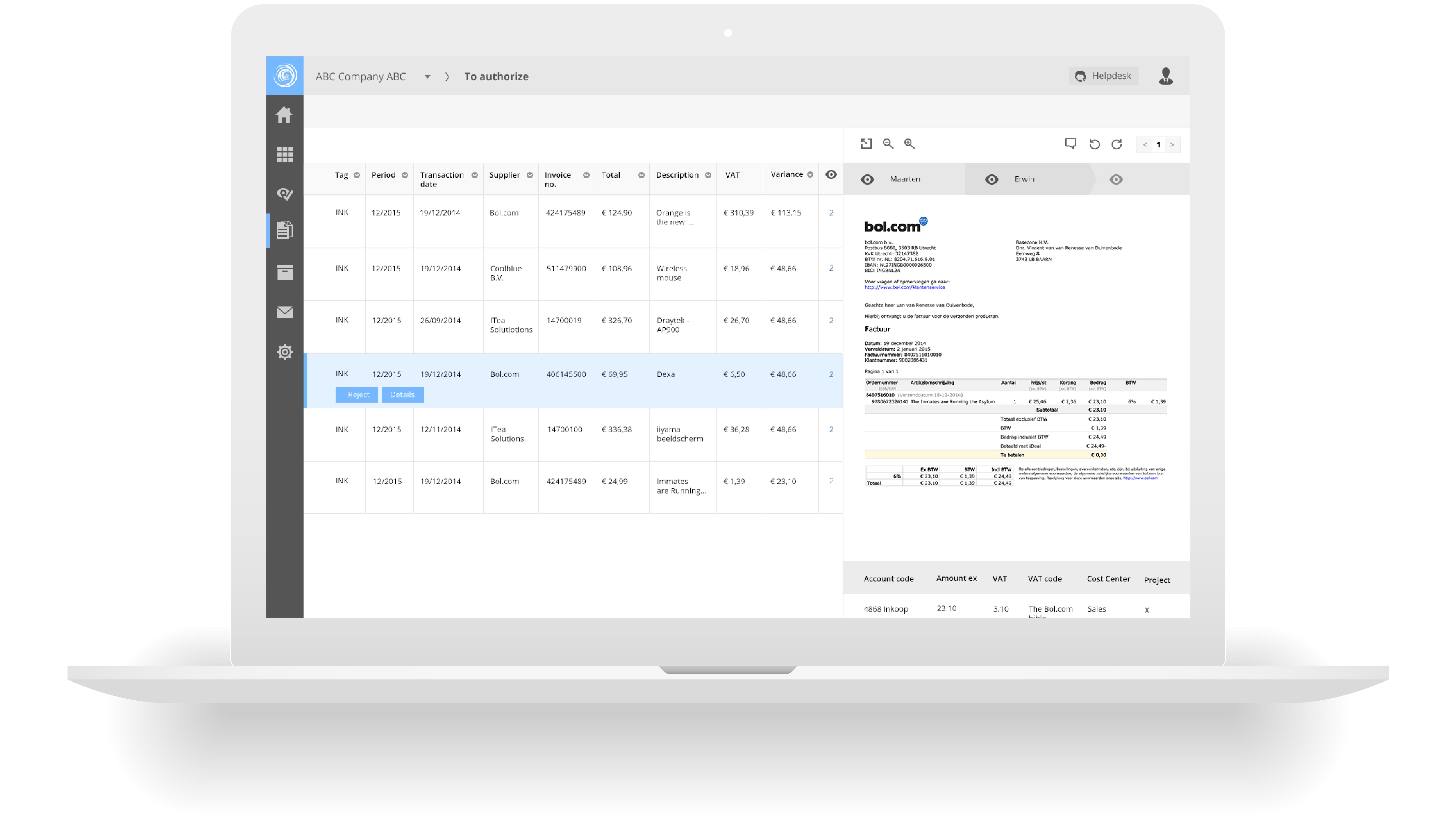 Basecone Workflow screenshot