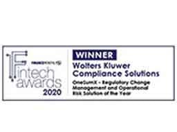 OneSumX - Regulatory Change Management and Operational Risk Solution of the Year