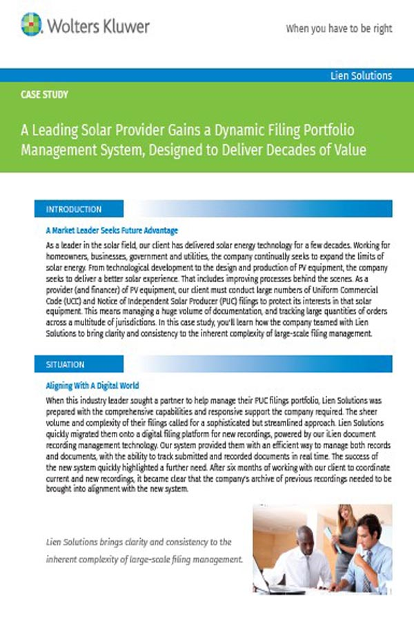 cover page for solar case study
