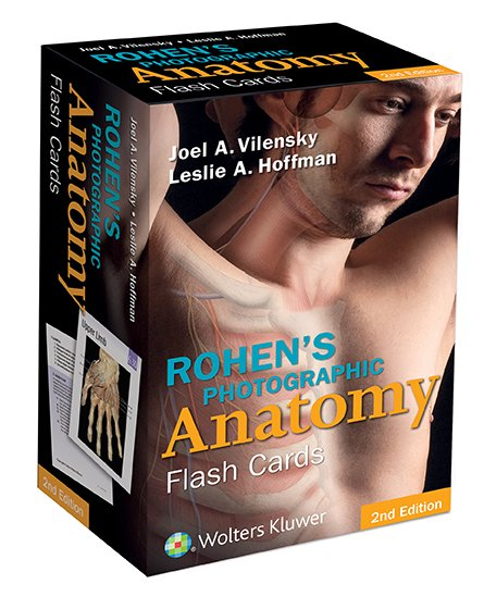 Rohen's Photographic Anatomy flash cards box cover