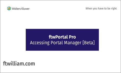 ftwPortal Pro - Accessing Portal Manager