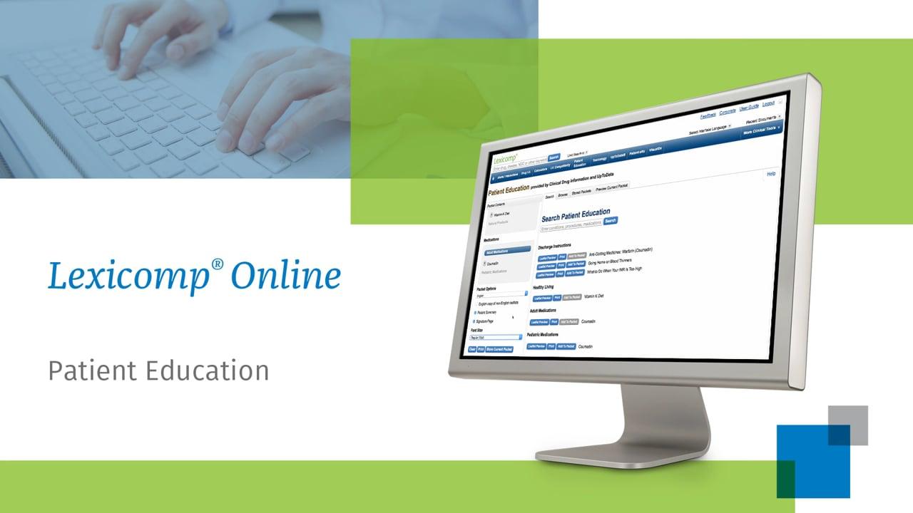 Lexicomp Patient Education