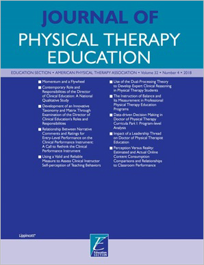 Journal of Physical Therapy Education