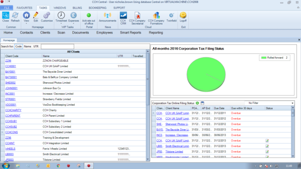 CCH Corporation Tax screenshot