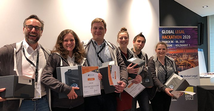 Siegerteam Skillerator Global Legal Hackathon 2020