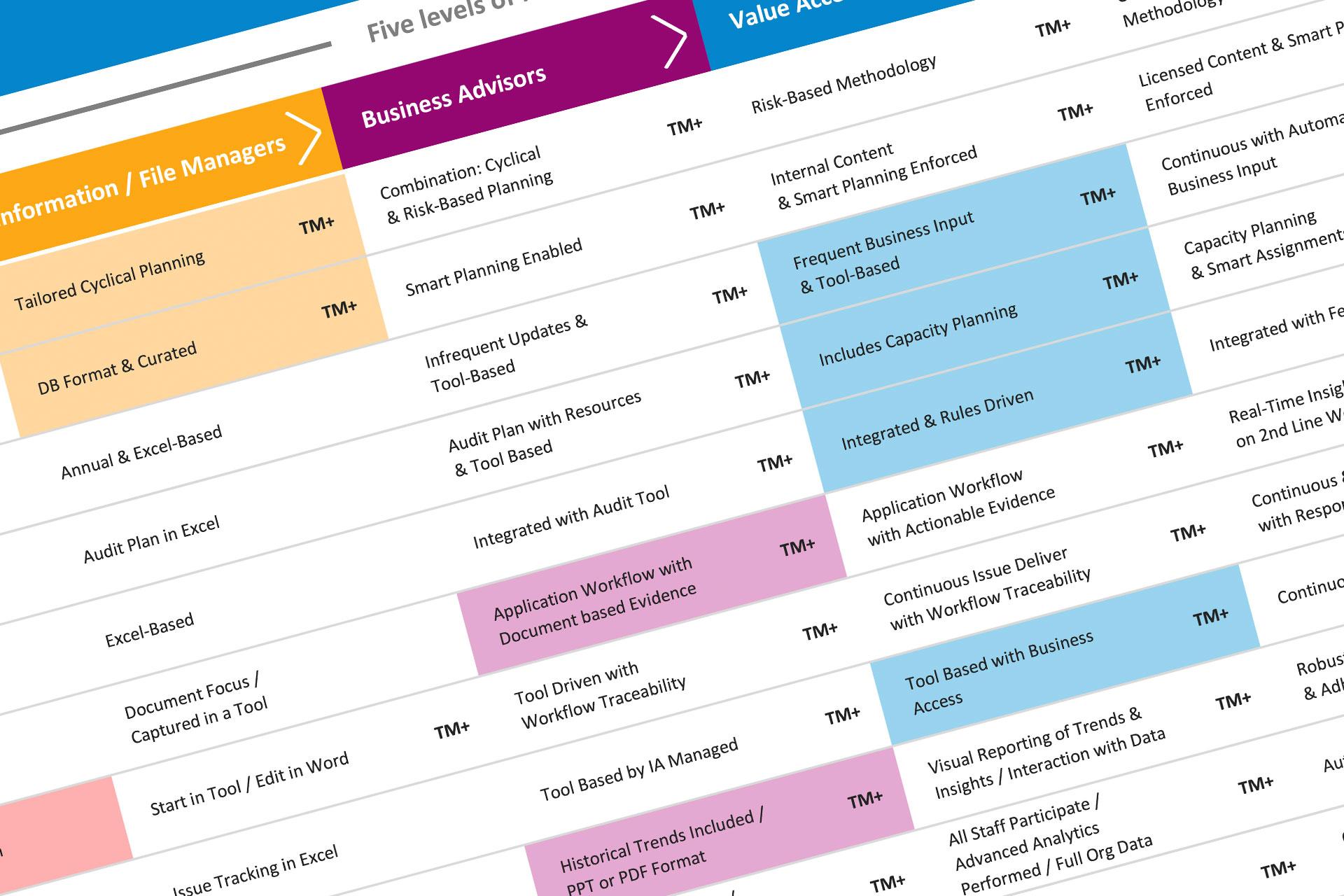 TeamMate Touchstone Market Study - Maturity Map