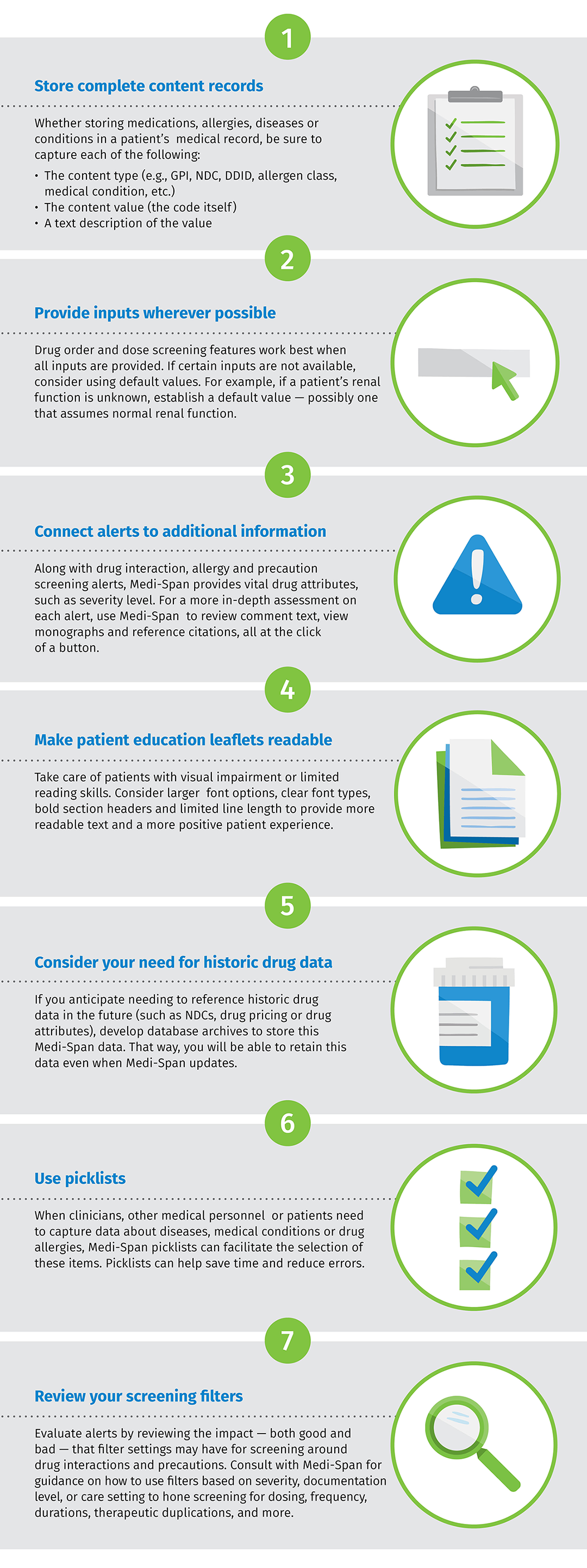 7 Best Practices to Maximize Your Medi-Span infographic