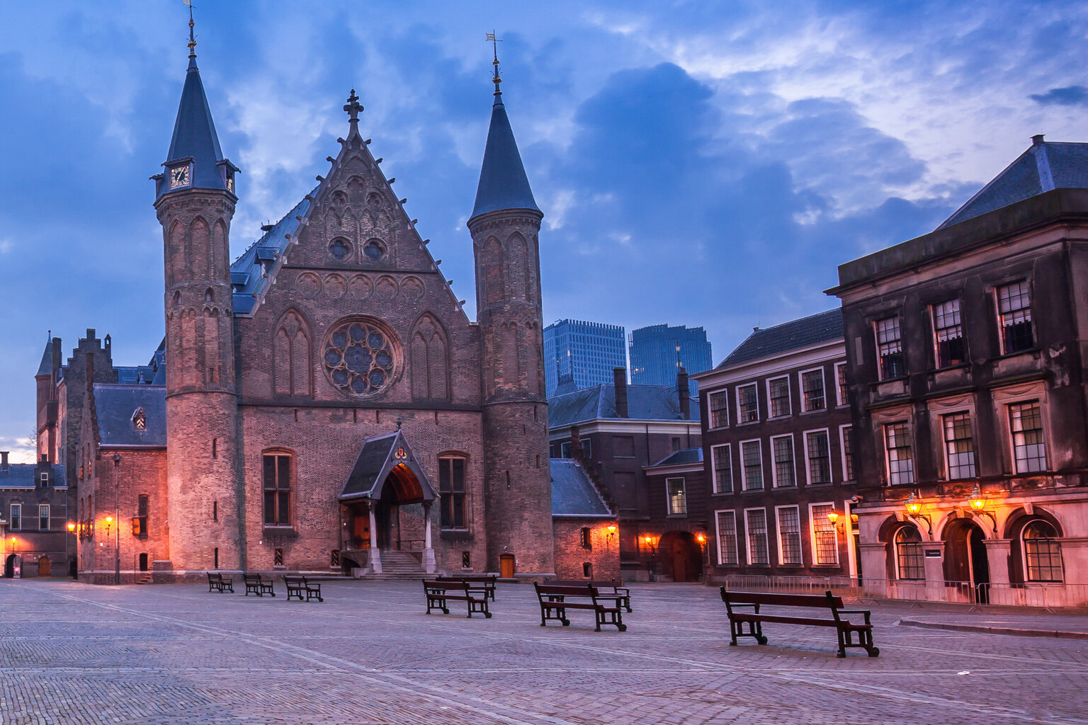 Binnenhof Den Haag op Prinsjesdag