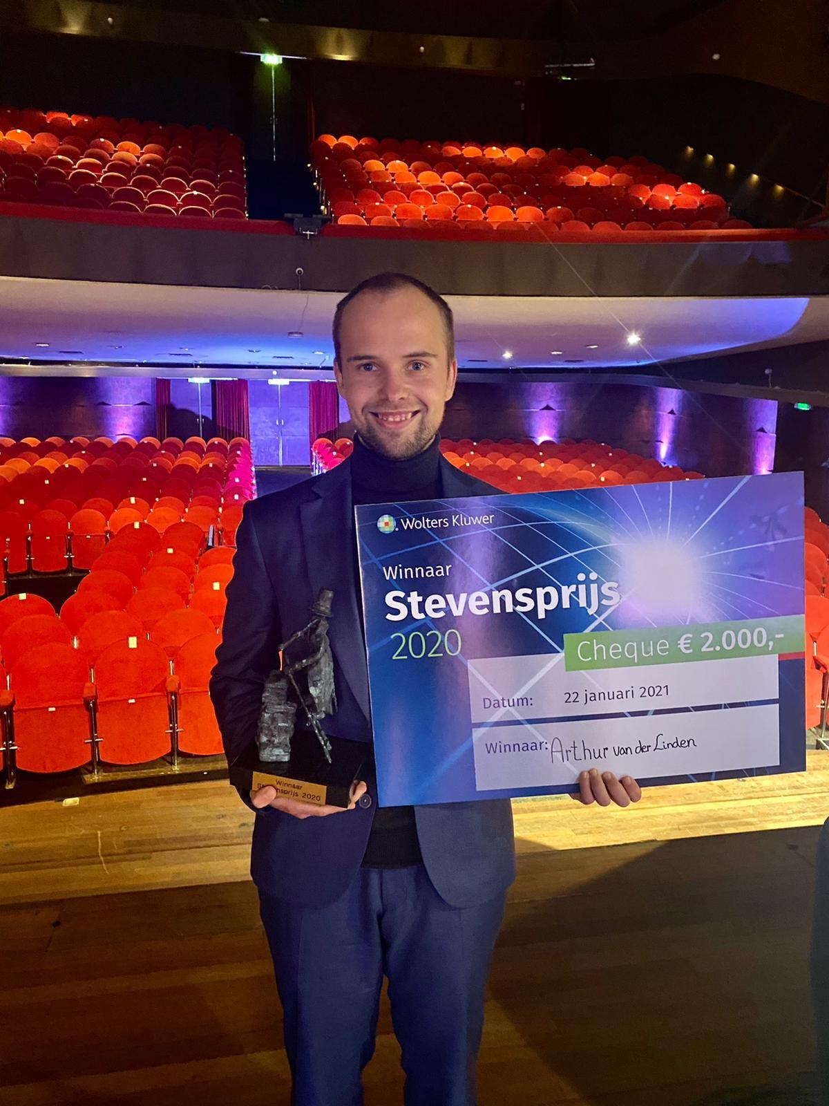 Arthur van der Linden wint de Stevensprijs 2020