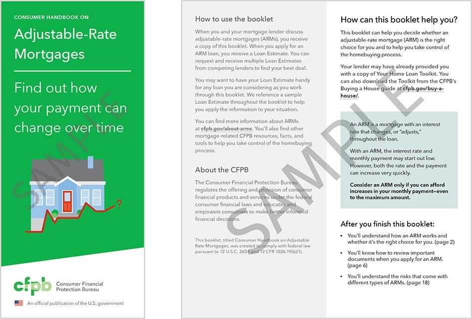 Consumer Handbook on Adjustable Rate Mortgage Disclosure - Sample